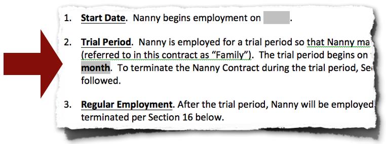 Nanny Contract Eliminates Stress